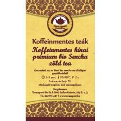 Koffeinmentes kínai prémium bio Sencha zöld tea
