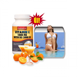 C-vitamin 1000 mg + D3 2000 NE (2000 IU) tabletta 350db