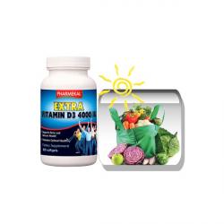 D3-vitamin 4000 NE (4000 IU) gélkapszula 100db