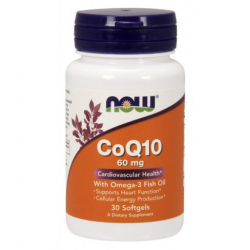 CoQ10 60 mg w/ Omega 3 Fish Oils - 30 kapszula
