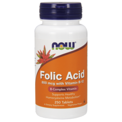 Folic Acid 800mcg  B-12 25mcg - Vegetarian 250 Tabletta