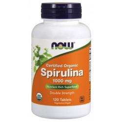 Spirulina 1,000 mg 120 Tablets, Certified Organic