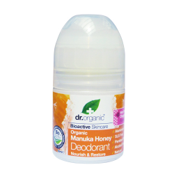 Dr. Organic Bioaktív golyós dezodor Manuka mézes 50ml