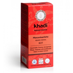 Khadi növényi hajfesték por Élénkvörös, 100% Henna-tartalommal 100g
