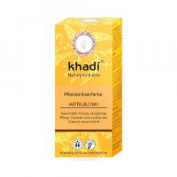 Khadi növényi hajfesték por Középszőke 100g