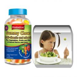 Gummy Chew – Multivitamin, Ásvány,Zöldség-Gyümölcs-Rost zselé drazsé 60 db (vegetáriánus formula)