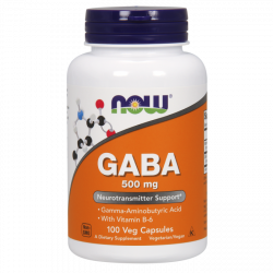 NOW Gaba 500mg 100 Veg Caps