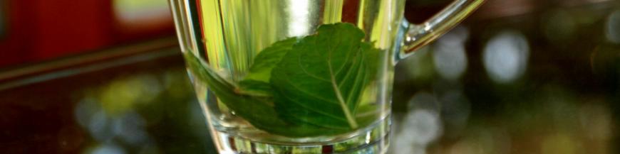Ízes zöld teák tea csokorba szedve